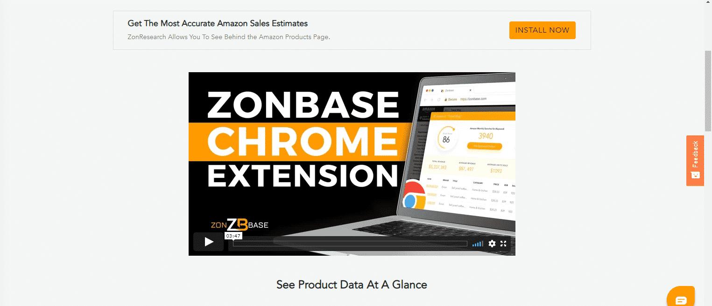 Zon Amazon FBA Chrome Extension